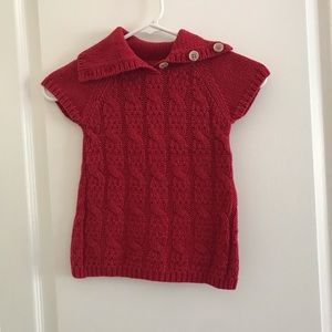 Vibrant Red Knit Sweater